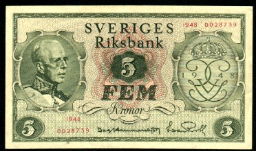5 kr sedel värde
